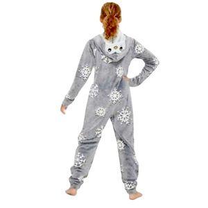 Justice Penguin Pouch Snowflake One Piece Fuzzy Fleece Pajamas, 18